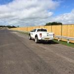 Reflective Acoustic barrier - Magherafelt Bypass - client BAM McCann JV